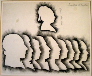 Silhouettes of the Oberlin family
